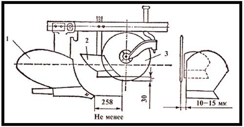 Схема для установки дискового